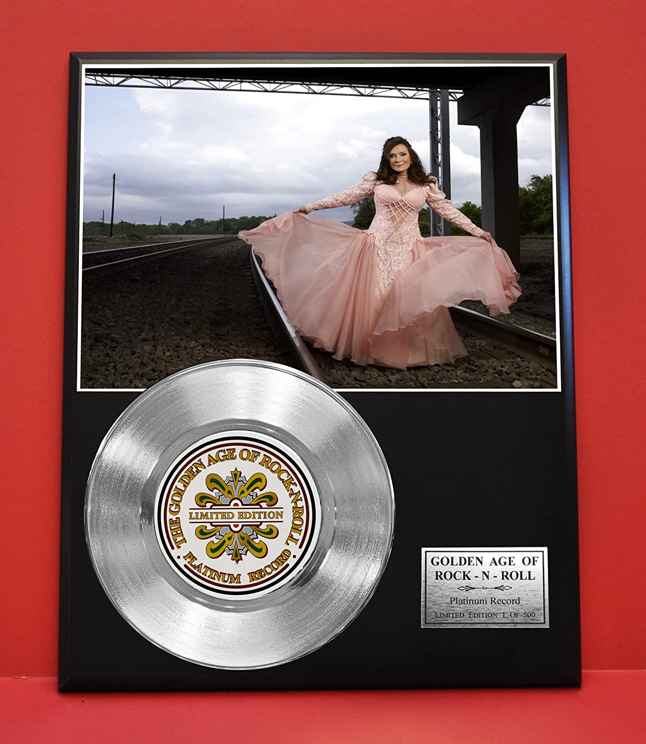 Loretta Lynn LTD Edition Platinum Record Display - Award Quality Music Memorabilia - Gold Record Outlet