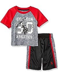 d0cb73e4d U.S. Polo Assn. Boys  2 Piece Sleeve Athletic T-Shirt and Short Set