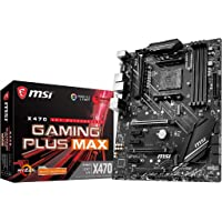 MSI X470 GAMING PLUS MAX - Placa base Performance Gaming (4 PCI-E Gen3 , Audio boost, conectores pin 8+4, Mystic Light…