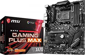 MSI X470 GAMING PLUS MAX - Placa base Performance Gaming (4 PCI-E Gen3 , Audio boost, conectores pin 8+4, Mystic Light RGB)