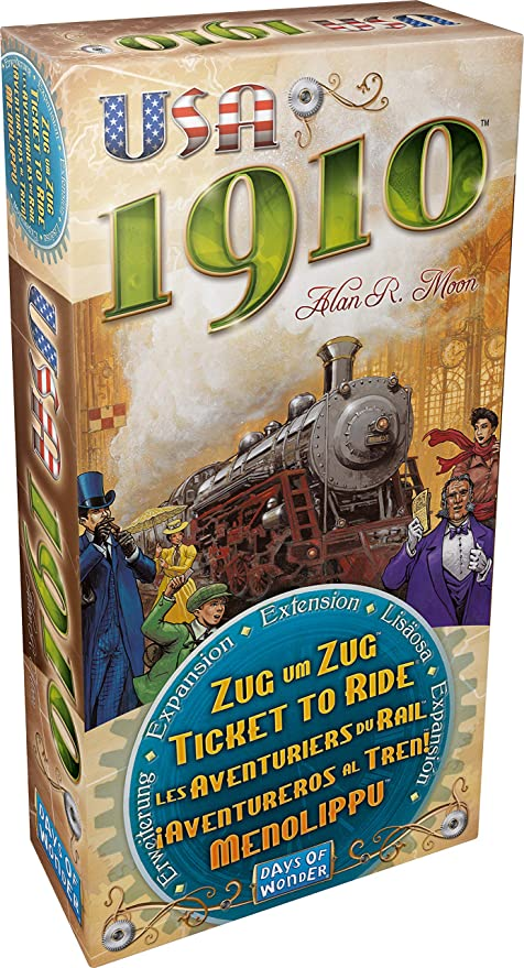 Days of Wonder Ticket to Ride USA 1910 Expansion New