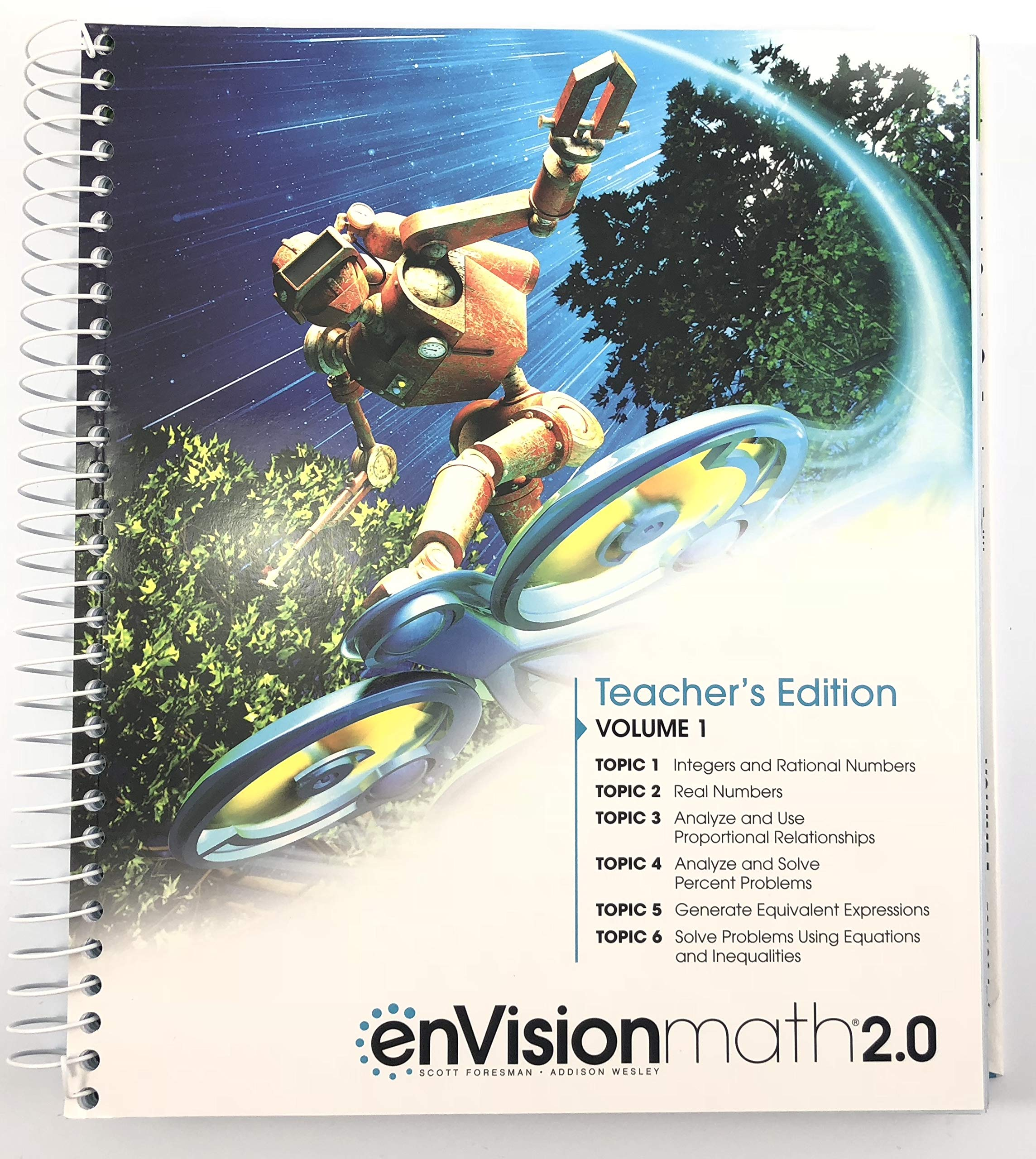 Pearson enVision Math 2 0, Teacher's Edition, Volume 1