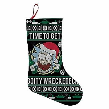 Bebe Navidad Rick y Morty Classic calcetín de Navidad con juguetes Candy calcetines gran capacidad bolsa de regalos, decoración para Navidad: Amazon.es: ...