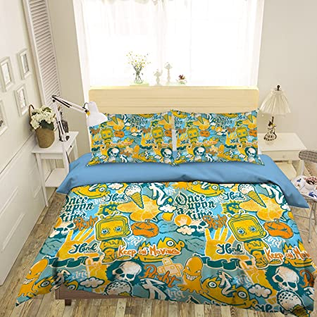 Aj Wallpaper 3d Painting Yellow Graffiti 320 Bedding Pillowcases