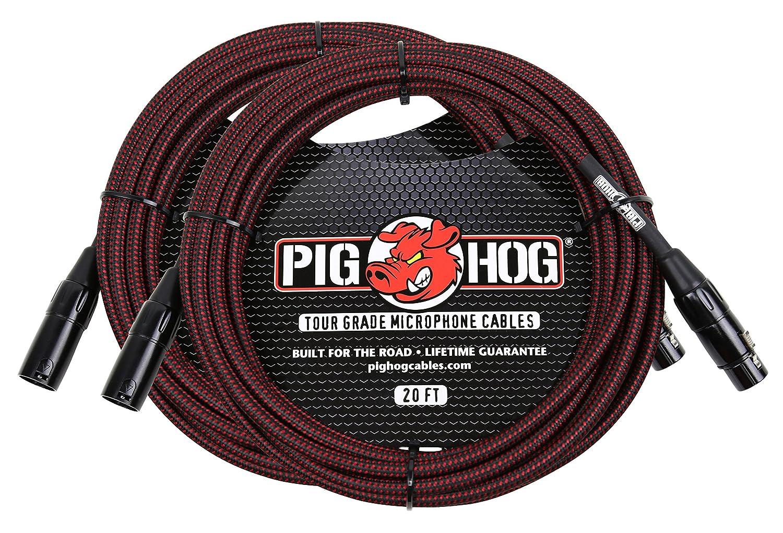 全国宅配無料 Pighog B07F7HGCZK phm20brdブラック&レッドWoven - XLRケーブル2 - Pack Pack B07F7HGCZK, 北高来郡:f468589a --- ballyshannonshow.com