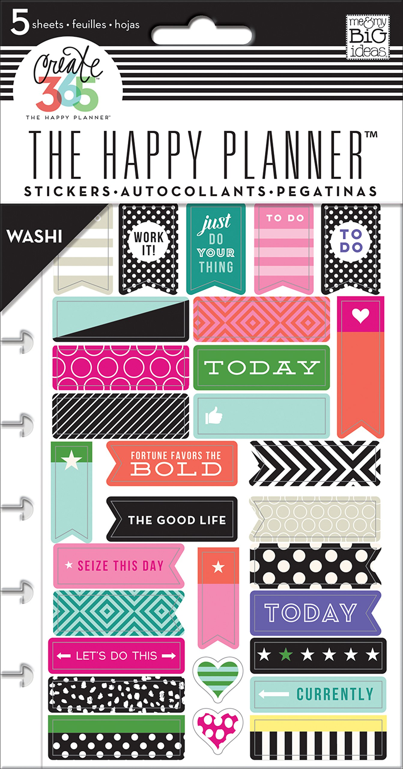 me & my Big Ideas Create 365 The Happy Planner Washi Sticker Pack, 5 Sheets by Me & My Big Ideas (Image #1)