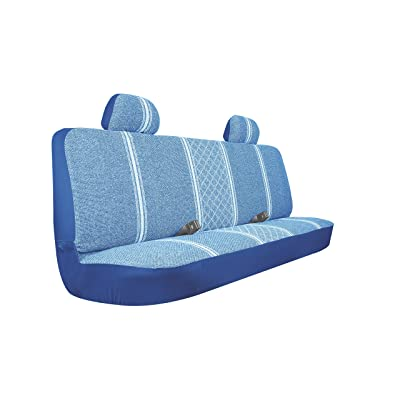 Allison 67-1919BLU Blue Diamond Back Large Bench Truck Seat Cover - Pack of 1: Automotive