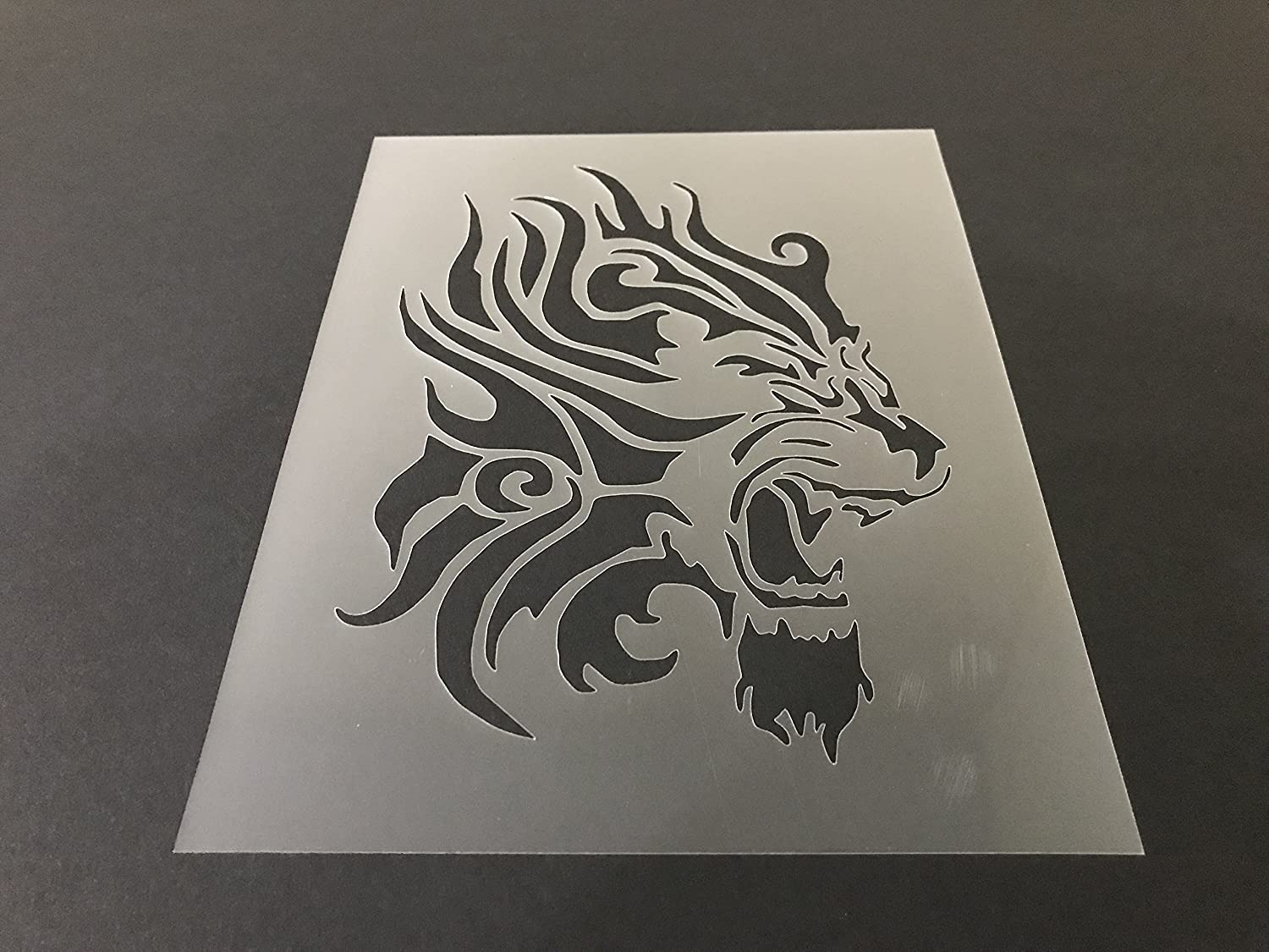 Lion Stencil #3 Reusable 10 mil Thick 7in x 9in sheet