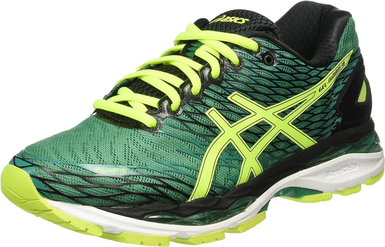 Asics Gel Nimbus 18 - Zapatillas de Running, Unisex, Verde (Pine/Flash Yellow/Black), 39.5: Amazon.es: Zapatos y complementos
