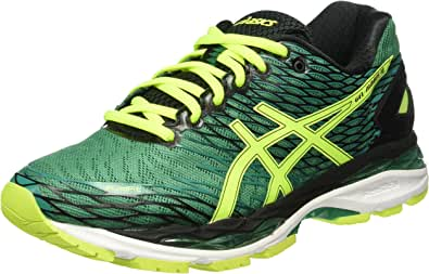 Asics Gel Nimbus 18 - Zapatillas de Running, Unisex, Verde (Pine/Flash Yellow/Black), 39.5: Amazon.es: Zapatos y complementos