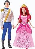 Mattel Y0939 Disney Princess - Muñecos de Ariel y Eric en caja