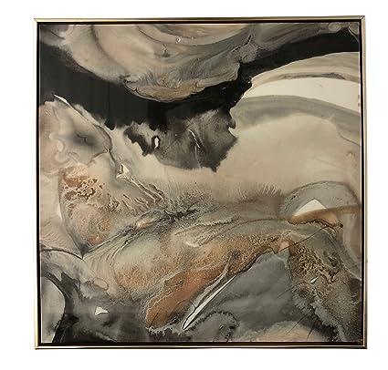 amazon com boston warehouse canvas art high gloss black and gold