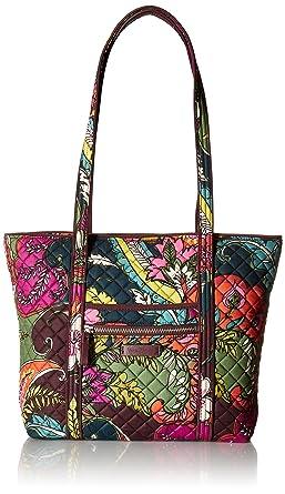 Amazon.com  Vera Bradley Iconic Small Vera Tote-Signature  Clothing d6ed639725a3f