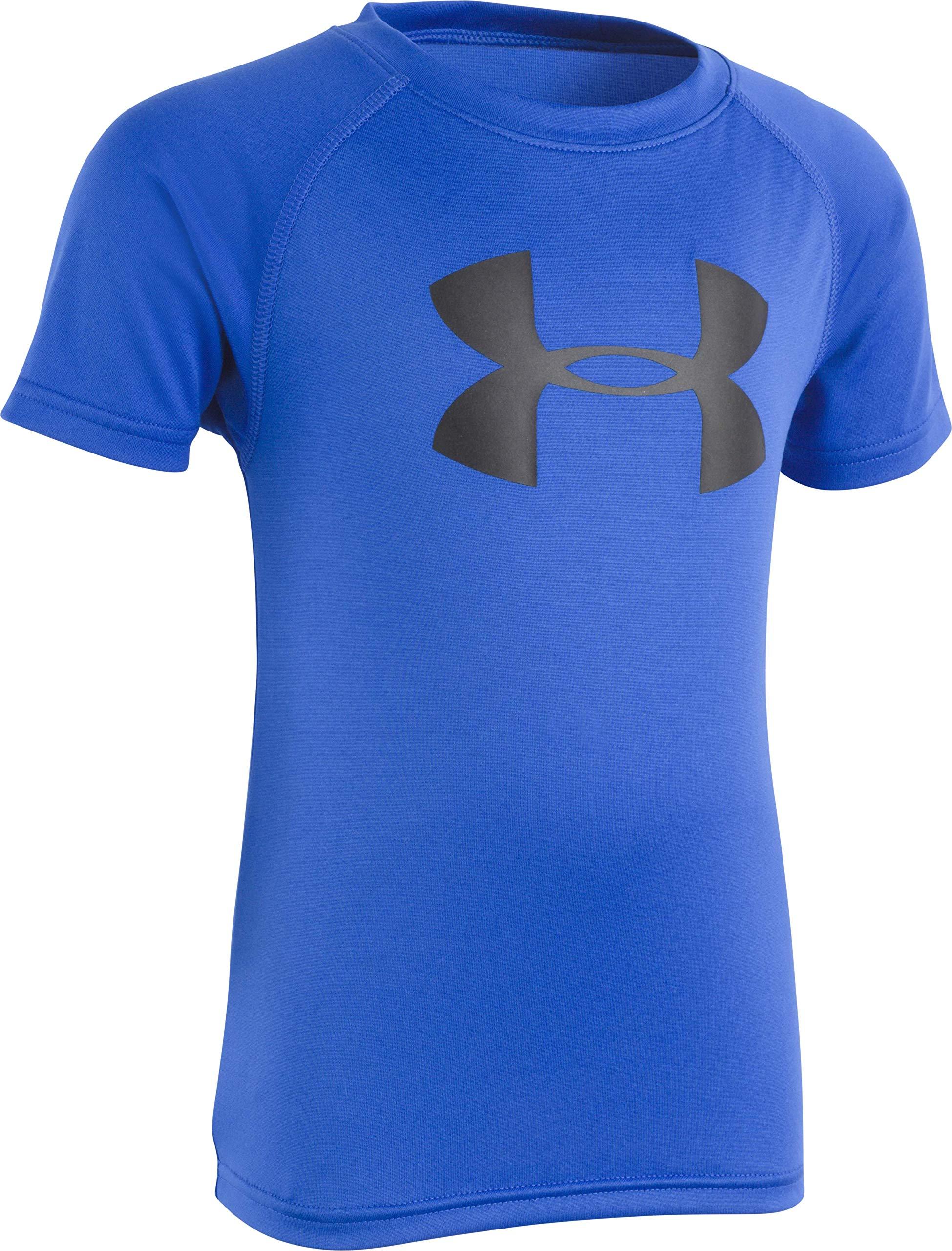 Under Armour Boys' Toddler Big Logo Short Sleeve Tee Shirt, Ultra Blue, 4T by Under Armour