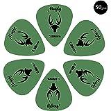 Mugig púas para guitarras con 50 Pcs de material delrin de color verde accesorios de guitarra (0.88mm)
