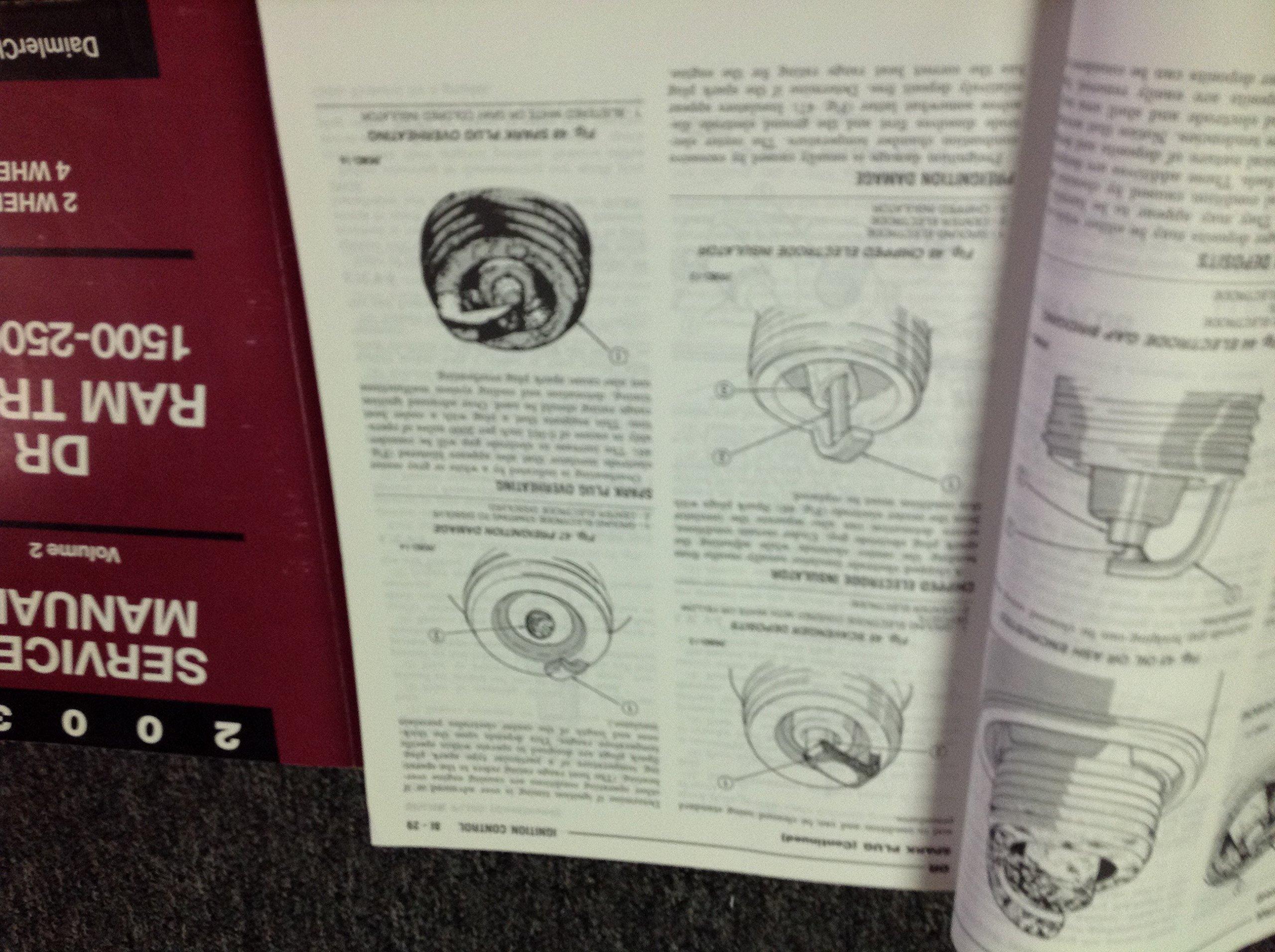2003 DODGE RAM TRUCK 1500 2500 3500 Service Shop Repair Manual Set W Labor  Guide & Diagnostics: DODGE: Amazon.com: Books