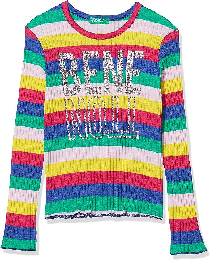 United Colors of Benetton Baby-M/ädchen T-Shirt M//L Langarmshirt