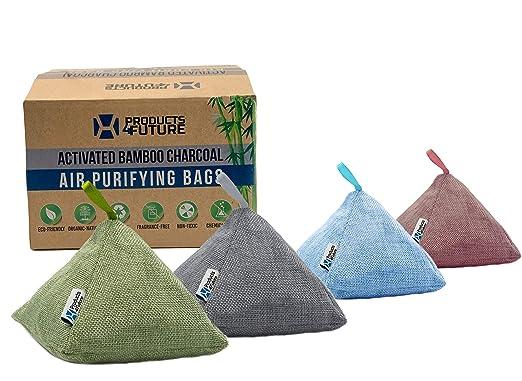 4 bolsas purificadoras de aire de carbón de bambú activado ...