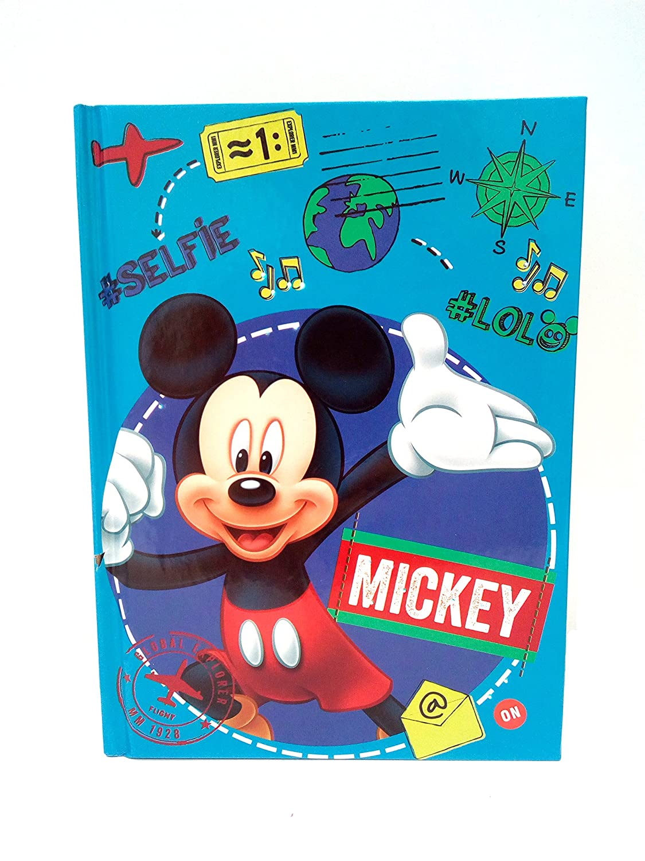 MICKEY MOUSE- DIARIO CON LUCE LED ( 20 x 14 x 2 cm ) ASTRO