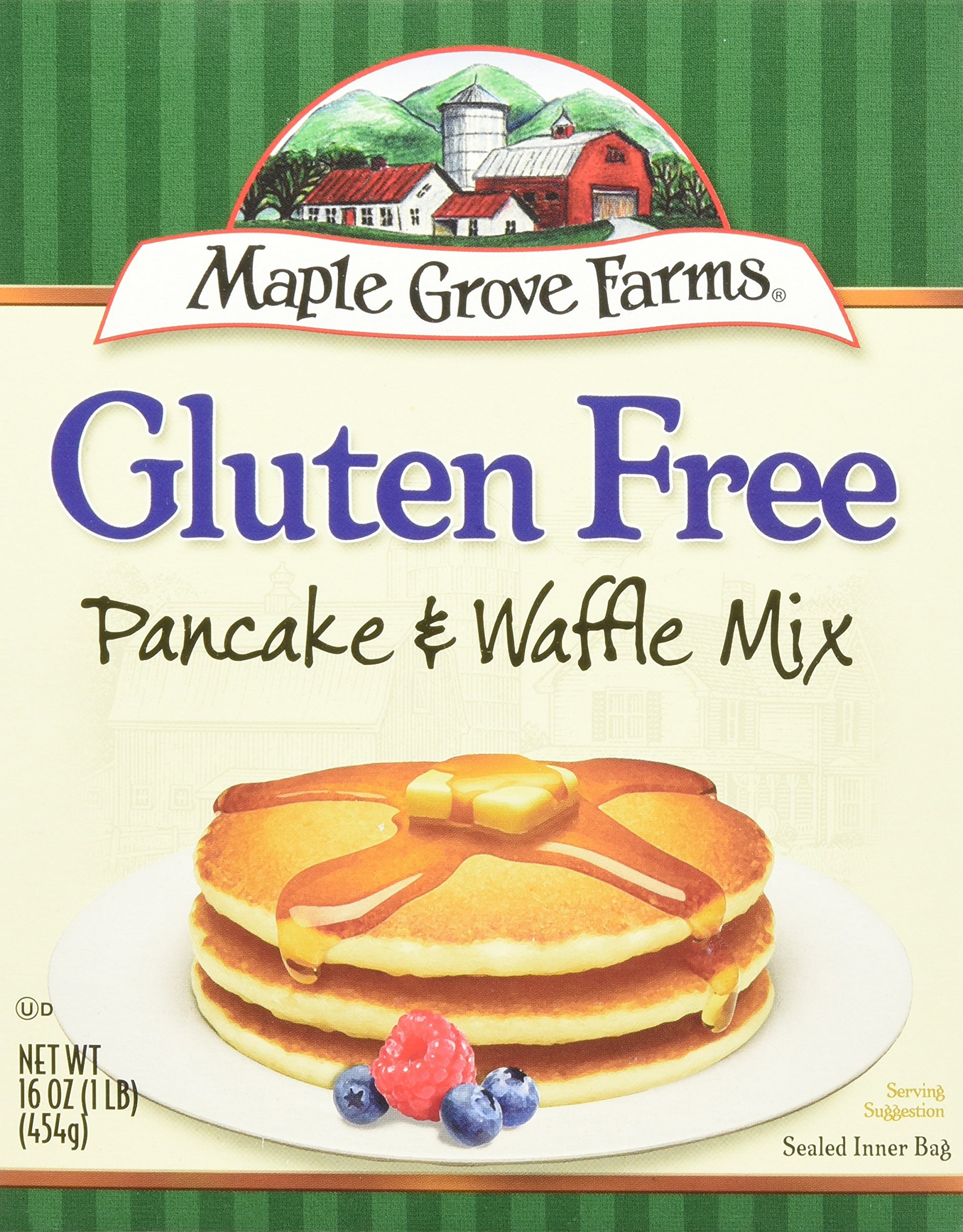 Maple Grove Farms Natural Pancake and Waffle Mix, 16 Ounce - 8 per case.