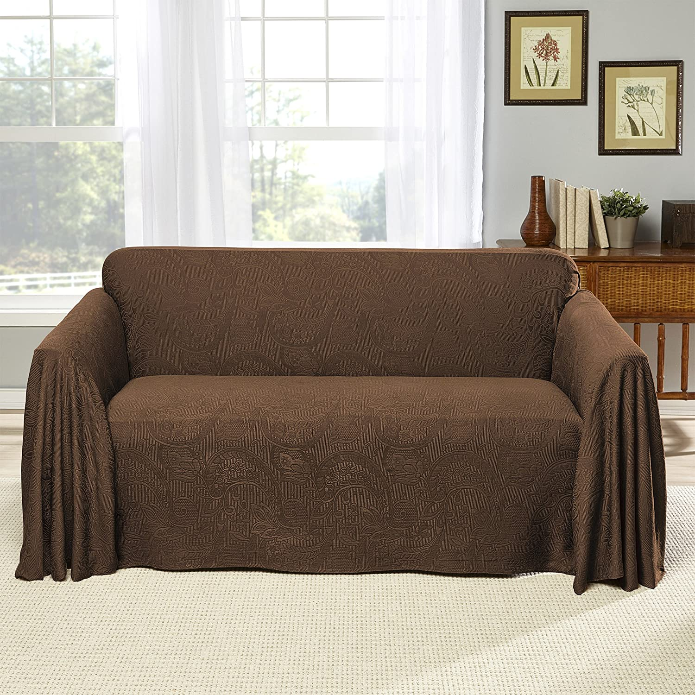 Stylemaster Alexandria Furniture Throw LARGE SOFA Chocolate