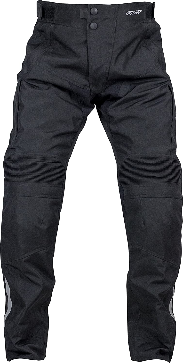 Black, XX-Large - Tall 38-40, Tall Pilot Motosport Mens Dura Motorcycle Over Pants