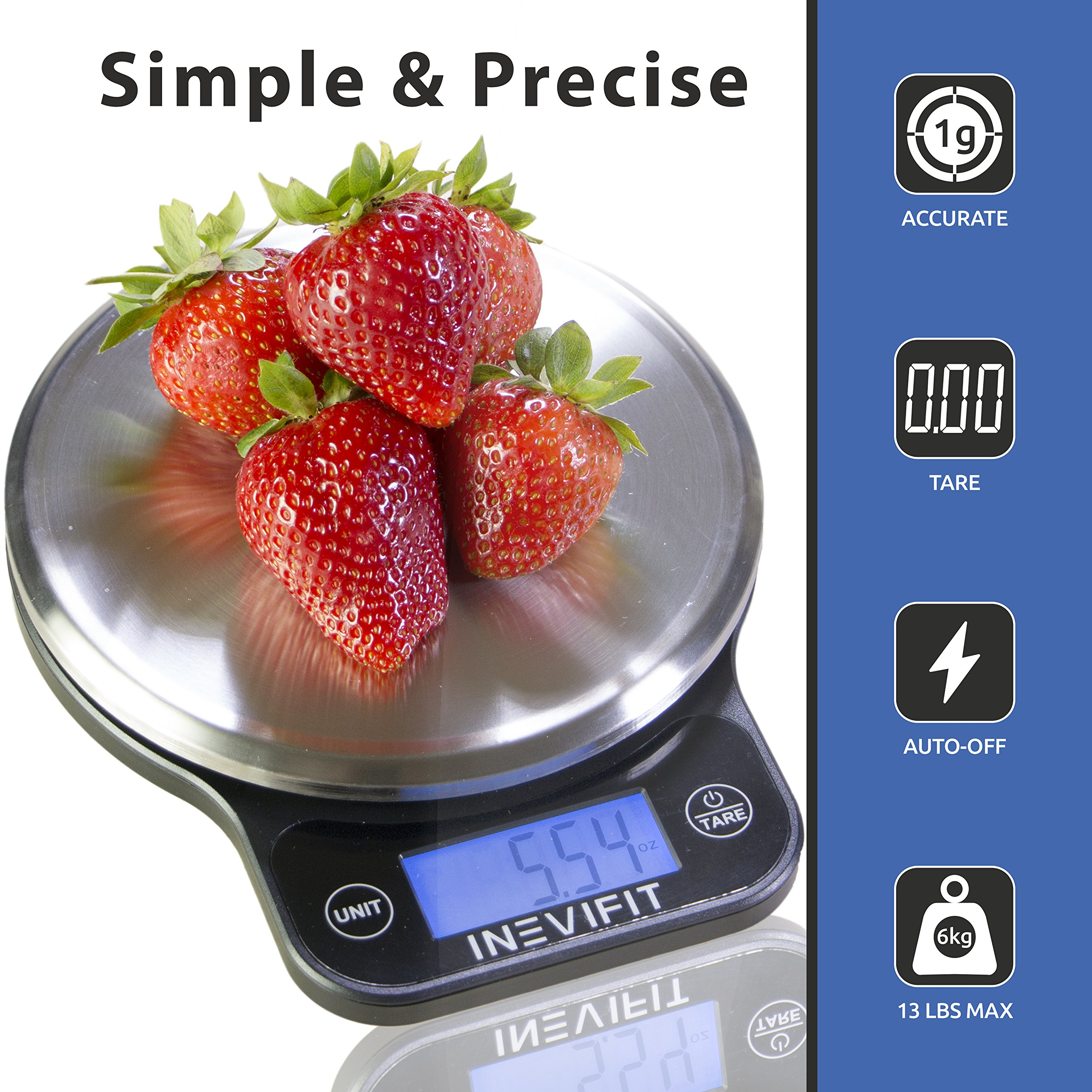 Inevifit Digital Kitchen Scale Highly Accurate