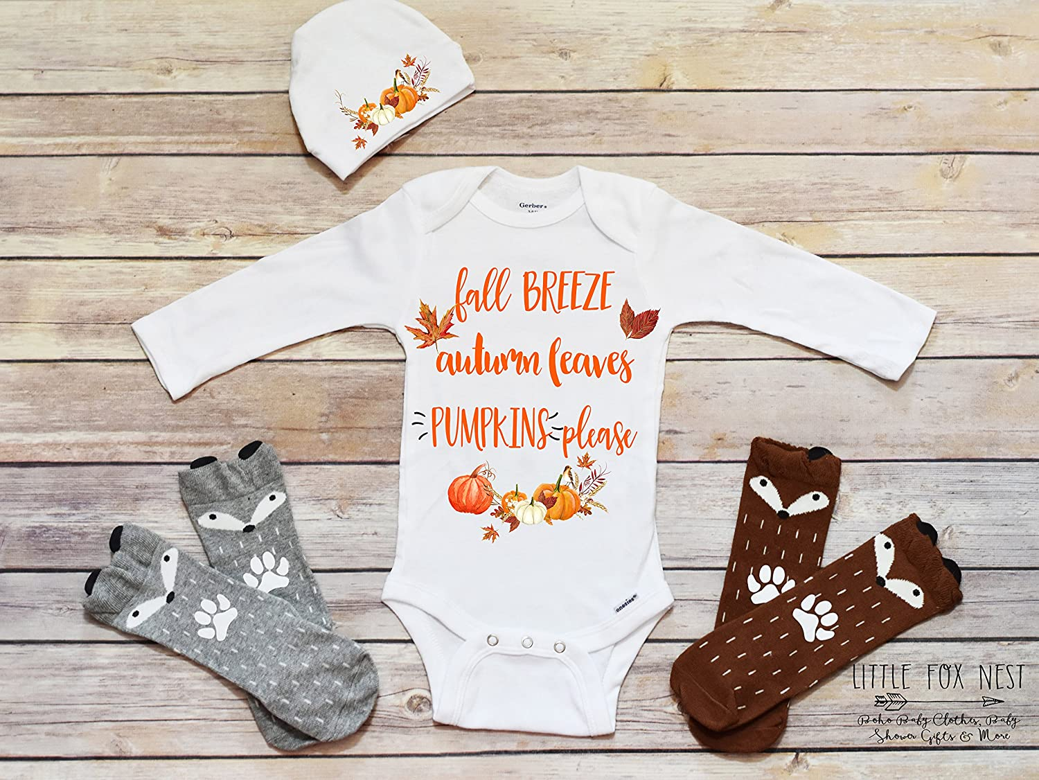 Amazon.com: Fall Clothes, Fall Onesie®, Thanksgiving Onesie