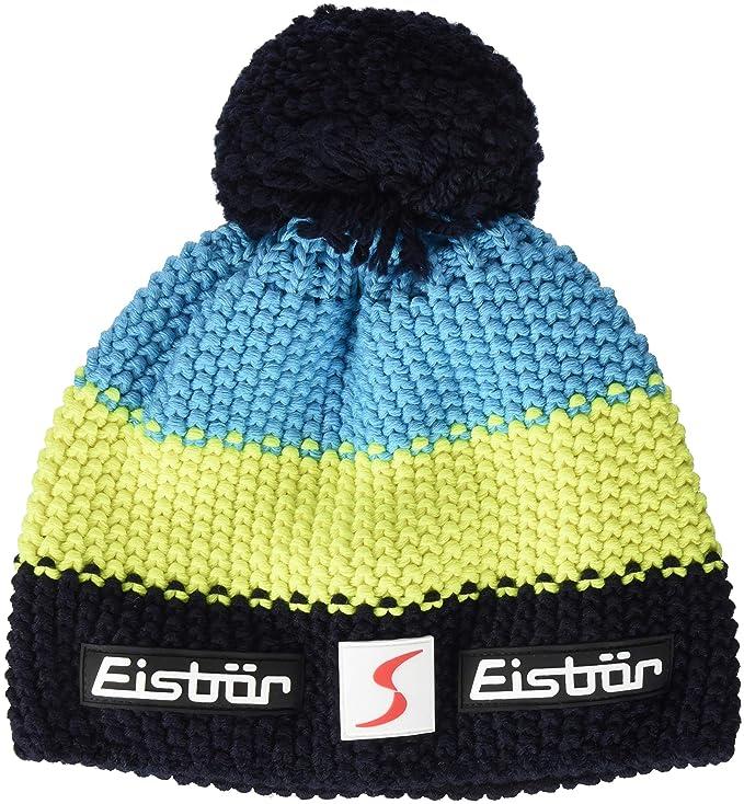 Gorro de marca Eisbär con pompon neón para ski