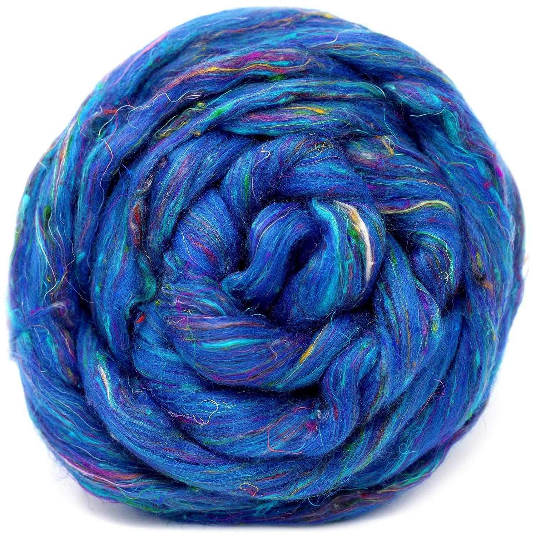 Wool Roving for Spinning Roving Felting Silk Merino Roving Weaving Needle Felting Supplies SWEET BERRIES Silk 2 ozs Silk Merino Wool Roving