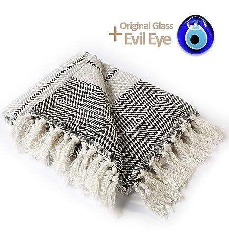 Toalla turca - manta de lujo - 100% algodón peshtemal ...