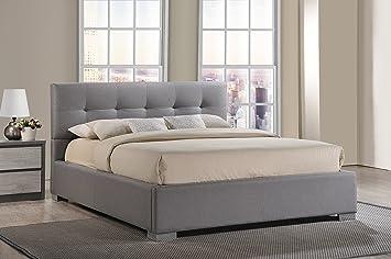 baxton studio regatta modern u0026 fabric upholstered platform bed full - Platform Bed Full