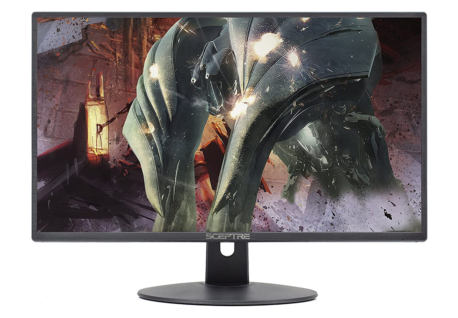 Sceptre 27-Inch FHD LED Gaming Monitor 75Hz 2X HDMI VGA Build-in Speakers, Ultra Slim Metal Black 2018