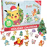 Pokemon 2020 Holiday Advent Calendar for Kids, 24 Pieces - Includes 16 Toy Character Figures & 8 Christmas Accessories - Firs
