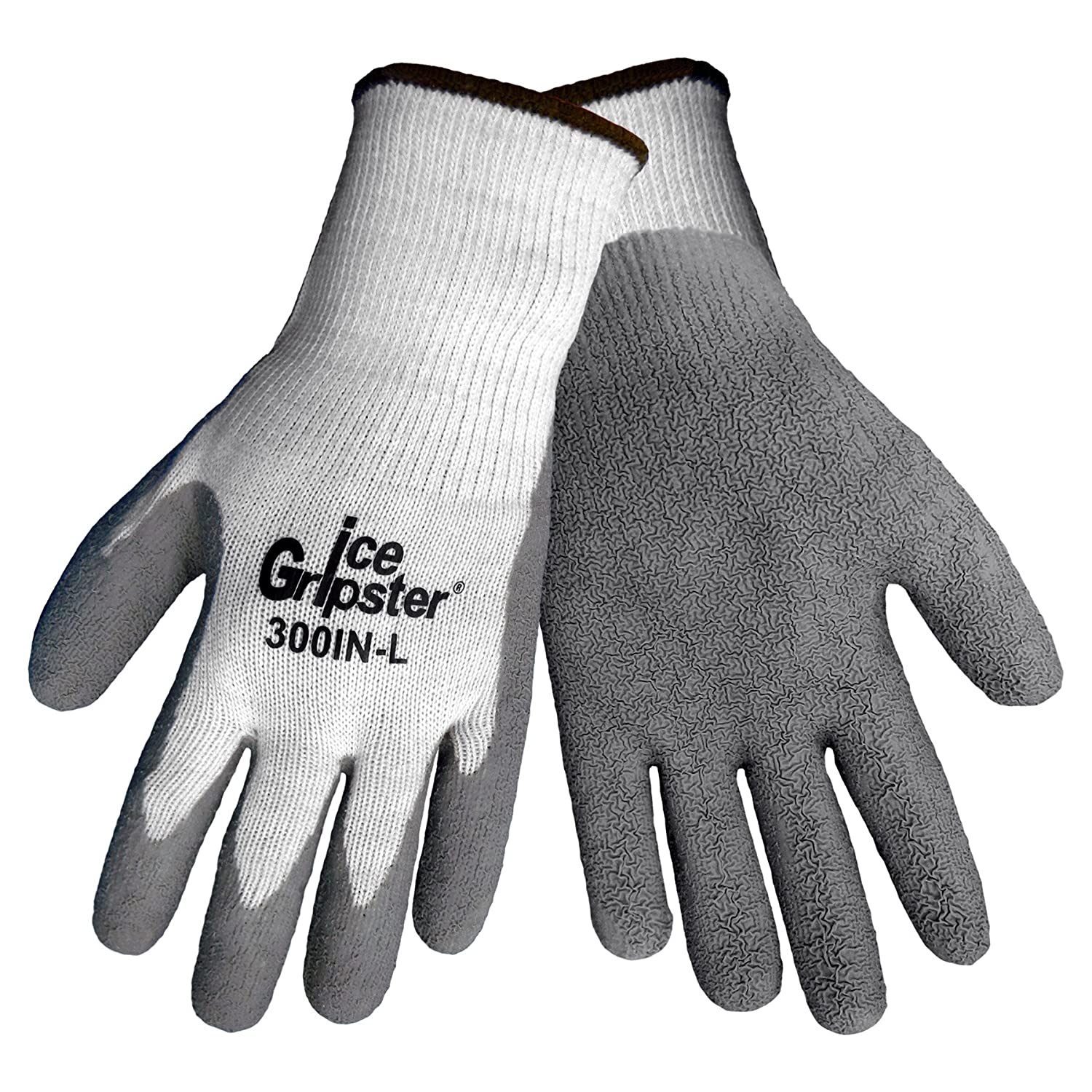 Global Glove 300IN Ice Gripster Insulated Acrylic Flat Dipped Glove, Work, Medium, Black (Case of 72) by Global Glove B00AIXR5IY