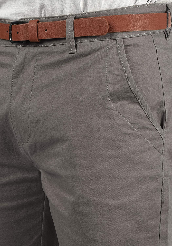 !Solid Montijo Chino Shorts Bermuda Kurze Hose mit G/ürtel aus Stretch-Material Regular Fit
