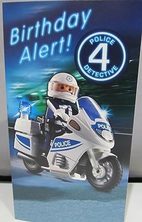 Playmobil Police Age 4 Birthday Card