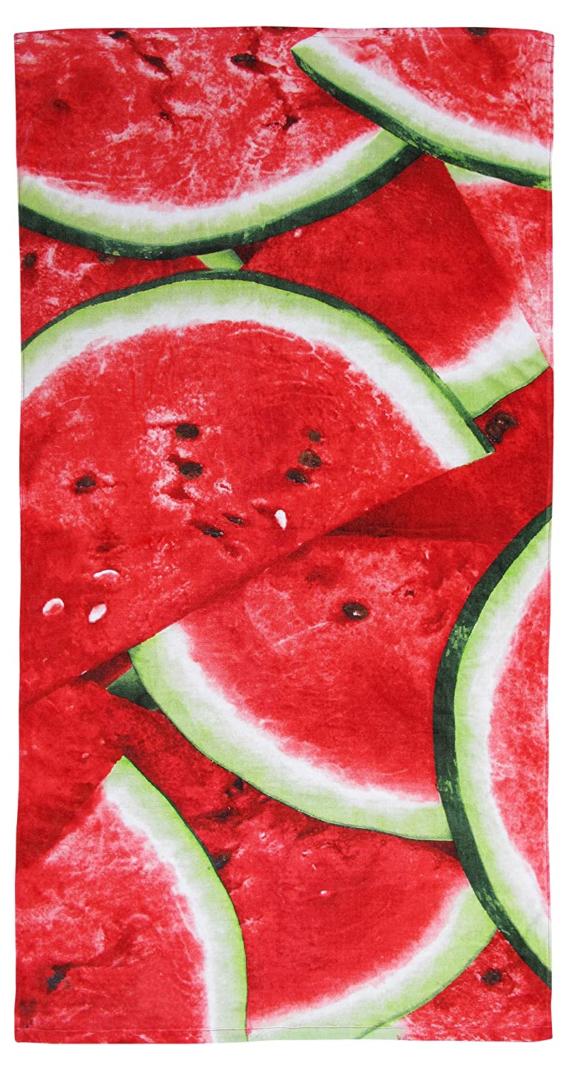 100% Pure Cotton Watermelon Summer Beach Towel - Modern Design, 75x150cms Generic