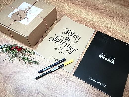 Kit de iniciación al Lettering con rotulador: Amazon.es: Hogar