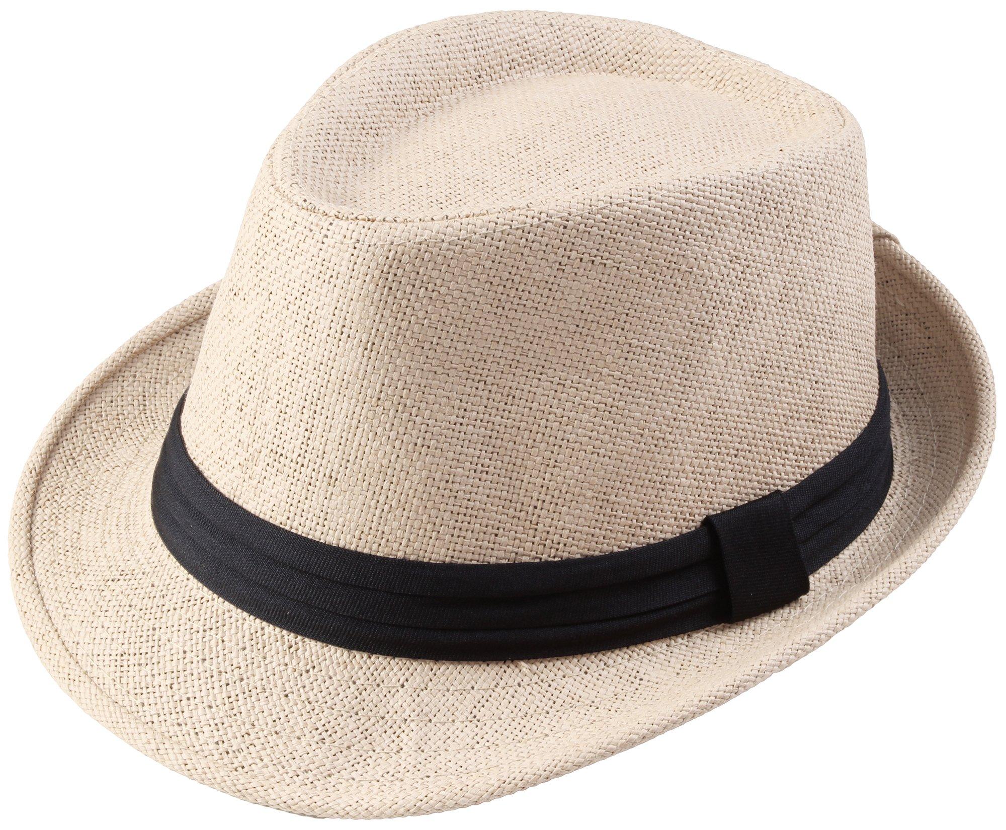 Classic Fedra Unisex Woven Hat Summer w/Stylish Band - D