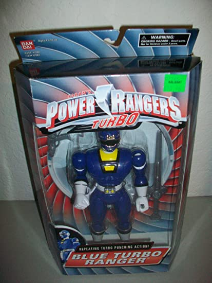 "Power Rangers Turbo 1997 8"" Blue Ranger repeating turbo punching action! Brand new in"