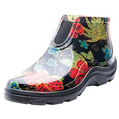 Sloggers Women's Waterproof Rain and Garden Ankle Boots with Comfort Insole, Midsummer Black, Size 8, Style 2841BK08: Garden & Outdoor