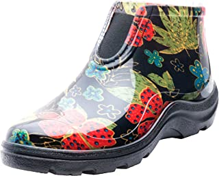 product image for Sloggers Women's Waterproof Rain and Garden Ankle Boots with Comfort Insole, Midsummer Black, Size 8, Style 2841BK08