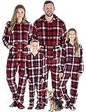 SleepytimePJs Family Matching Christmas Onesies Fleece Hooded Footed Pajamas