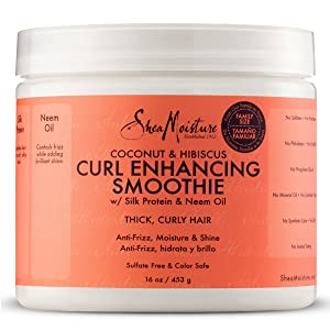 Shea Moisture Coconut and Hibiscus Curl Enhancing Smoothie, 16 Ounce Family Size & Shea Moisture Jamaican Black Castor Oil Strengthen, Grow & Restore Leave-In Conditioner 16 Ounce