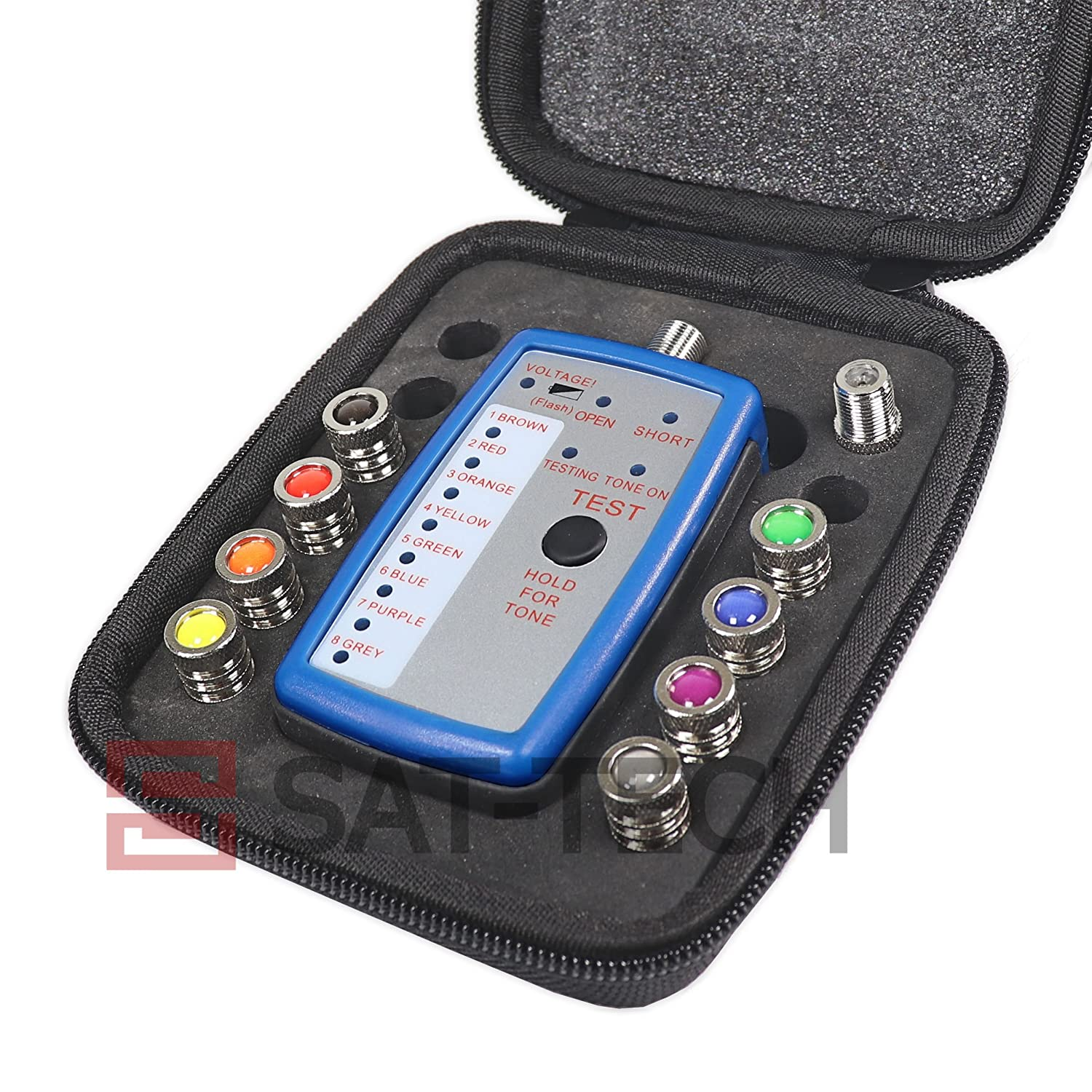 Advantage Adv1018 8 Way Coax Cable Mapper Home Audio Toner Tester For Rg6 And Rg59 Circuit Testers Theater