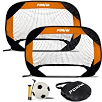 porayhut 4FT Pop Up Kids Soccer Goal and Ball Sets Portable Soccer Net for Training Easy Assembly with Compact Carrying…