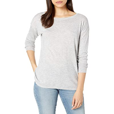 NYDJ Women's Button Back Boat Neck Sweater at Women's Clothing store
