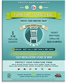 Amazoncom Furniture Storage BagsDining Room Chair 3 Mil Thick