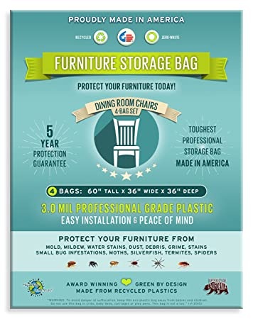 Amazon.com: Four Count-Furniture Storage Bags-Dining Room Chair. 3 ...
